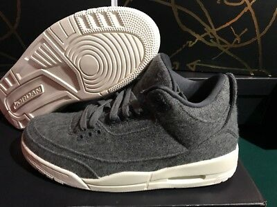 purchase cheap a6be8 ed880 Nike Air Jordan 3 III Retro Wool SZ 8.5 Dark Grey Sail Cement OG 854263-