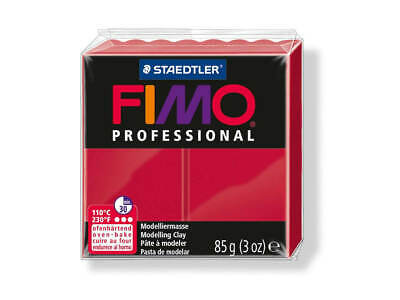 Carmine Fimo Professional Polymer Modelling Oven Bake Clay 85g - Carmine