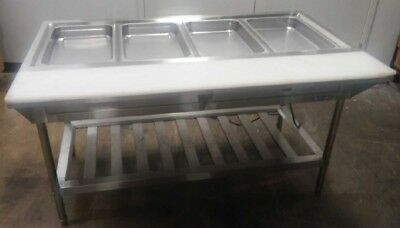 4 Well Electric Steam Table Hot Food Buffet Station