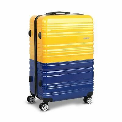 Travel Luggage Suitcase Trolley W/ Top Side Handle Lockable Yellow & Purple 28""
