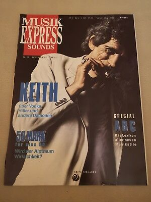 Musik Express Sounds Zeitschrift 1992 Nr. 11 (Keith Richards, Peter Maffay)