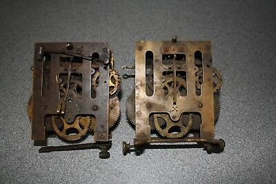 Pair of Antique/Vintage HAC Striking Clock Movement for spares/repairs/parts