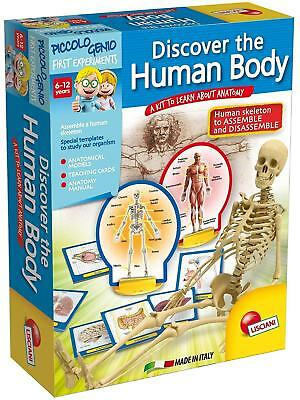 Kids Children's Discover The Human Body Game Anatomy Skeleton Cards