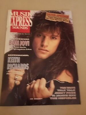 Musik Express Sounds Zeitschrift 1988 Nr. 11 (Bon Jovi, Keith Richards)