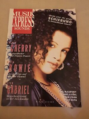 Musik Express Sounds Zeitschrift 1989 Nr. 7 (Cherry, David Bowie, Peter Gabriel)