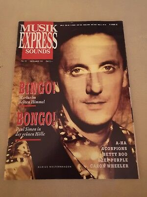Musik Express Sounds Zeitschrift 1990 Nr. 12 (Scorpions, A-HA, Deep Purple)