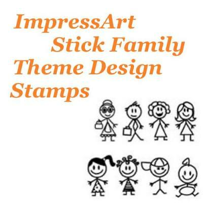 ImpressArt Stick Family Theme Metal Stamp Punches Stamping Tools Choose Design