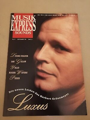 Musik Express Sounds Zeitschrift 1990 Nr. 9 (Herbert Grönemeyer, Yello, Pixies)