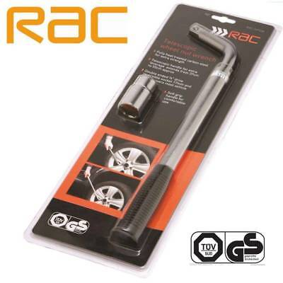 RAC Telescopic wheel nut wrench - car van wheel brace breaker bar 17 & 19mm