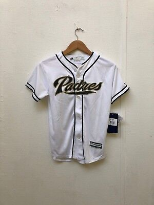 San Diego Padres Majestic Kids MLB Jersey- 10-12 Years - Hedges 18 - White - New