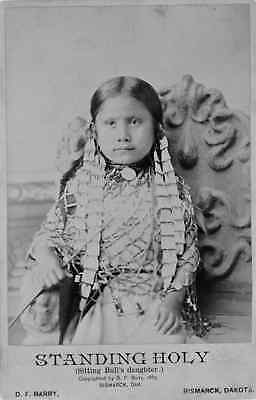 "New Art Print of 1885 Photo D.F. Barry ""Sitting Bull's Daughter, Standing Holy"""