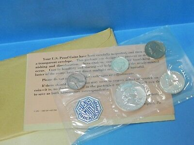 1962 P Silver Proof Coin Set United States Mint