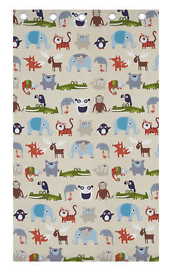 Catherine Lansfield Kids Children's Animal Kingdom Double or Eyelet Curtains