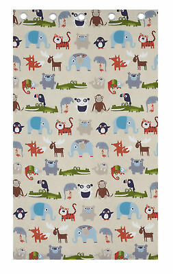 "Catherine Lansfield Kids Children's Animal Kingdom Eyelet Curtains 66""x 72"""