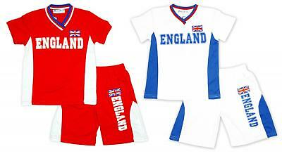 Boys Top Shorts T-Shirt Sport Football Outfit ENGLAND No10 Sun Set 2 to 14 Years