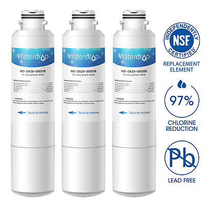 Fits DA2900020B HAF-CIN Comparable Refrigerator Water Filter 3 PACK by Waterdrop