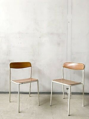 PAIR OF VINTAGE 50s 60s INDUSTRIAL METAL GARDEN TERRACE PATIO DINING CHAIRS