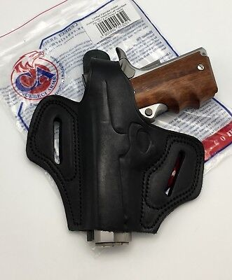 CEBECI LEATHER COMBAT Grip Pancake OWB Belt Holster for 1911