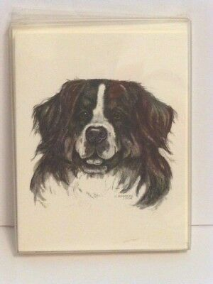 Bernese Mt. Dog The Art of Dogs Notecard Collection, 5 Cards & Envelopes, U.S.A.