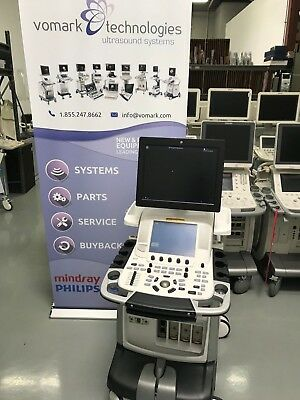 Ge Vivid E9 Bt13 Xdclear 4D Cardiac Ultrasound Machine With M5Sc-D & 9L-D