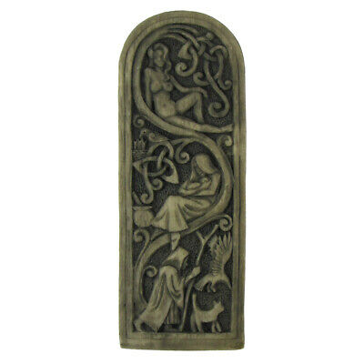 Maid Mother Crone Wall Plaque - StoneFinish Dryad Design - Goddess Wicca Pagan