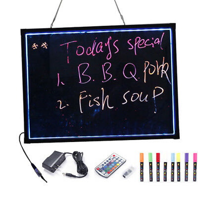 """32""""x24"""" Erasable Neon Light LED Writing Board Menu Signs with 8 pcs Highlighters"""