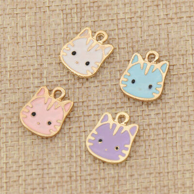 10 Pcs Owl Pattern Charms Pendants for Necklace Jewellery Making Accessories