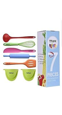 Silicone Kitchen Utensils Colorful 7 Pieces Set 100% BPA free food grade silicon