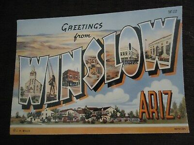 Greetings from Winslow, Arizona Curt Teich Archives Route 66 Nostalgia Series