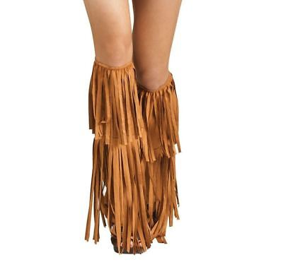Adult Hippie Fringe Boot Covers - One size