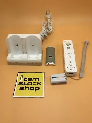 Official OEM Nintendo Wii & U Remote Wiimote Controller RVL-003 + Nyko Charger