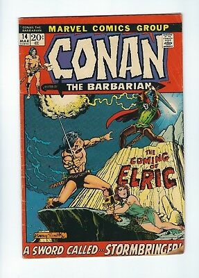 Conan the Barbarian #14 (1972, Marvel) 1st app of Elric, Barry Windsor-Smith art