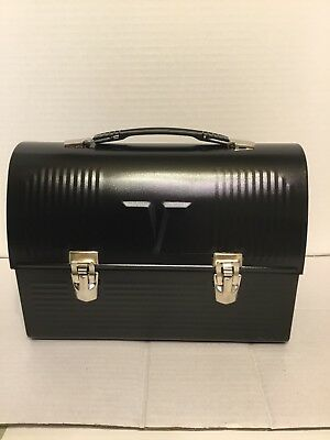 Vtg. Black V Lunch Box And Thermos New