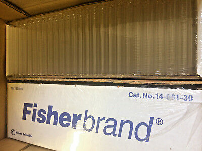 Fisher Disposable Culture Tubes Borosilicate 16x125mm 14-961-30 1000 Case H0818