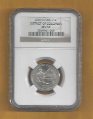 2009 D District of Columbia Quarter  NGC MS 69 SMS