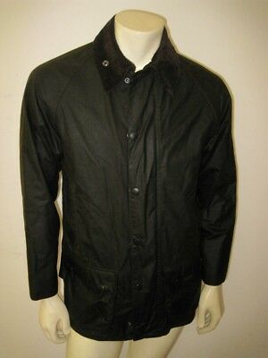NWT BARBOUR Olive Green CLASSIC BEAUFORT Wax Jacket Size 34