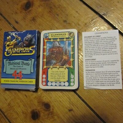 Champions Medieval Battle Power Changing Warrior Cards Deck Game Free UK P+P