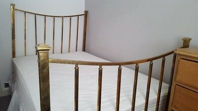Genuine Victorian Brass Bed - Small Double