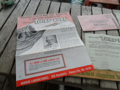 Vintage Swenson's Twirl-A-Lure Lures Advertisement with Prices Norkin -Missouri