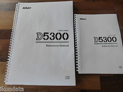 ~PRINTED~ Nikon D5300 User guide Instruction manual  A4 or handy A5