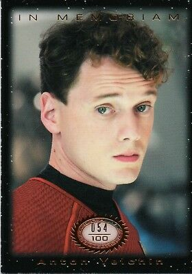 Star Trek Beyond Movie Trading Cards, Anton Yelchin In Memoriam M6 #054/100