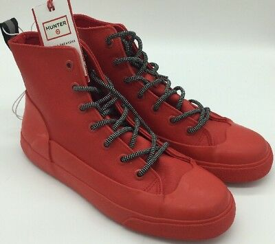 c359ea356ff Hunter for Target Adult Unisex Dipped Canvas High Top Sneakers Red Size  W11 M9