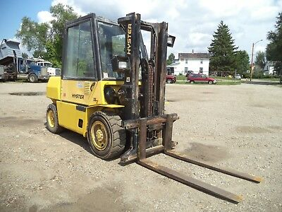 Hyster H80XL/2, 8,000#, 8000# Pneumatic Tired Forklift, Diesel, Side Shift