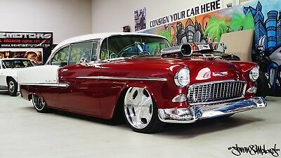 LHD 55 Chevy 2 door coupe with blown v8 Suit 56 57 Belair Bel Air Chevrolet Chev