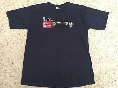 Phil Collins First Final Farewell Tour Shirt Large Genesis