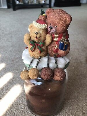 Christmas Bears Large Candle Topper