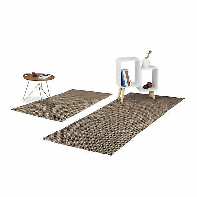 Diamond Pattern Carpet Runner, Jute Area Rug for Kitchen, Hallway and More