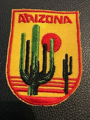 Arizona - State Patch - Cactus Desert - Embroidered Patch