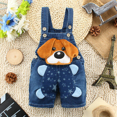 Infant Baby Boys Clothes Clothing Jeans Pants Kids Boy Trousers Shorts Overalls
