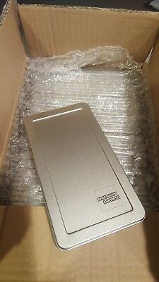 25 American Express Silver Metal Tip Trays Check Presenters Free Ship Sale!!!!